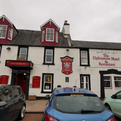 the outside of the Elphinstone Hotel Biggar